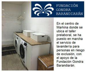Servicio lavandería para personas en riesgo de exclusion en Markina